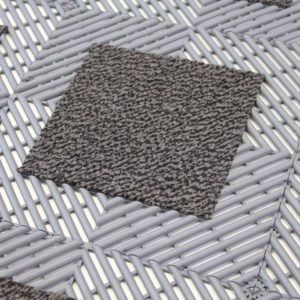 Vision Carpet Grey Tiles